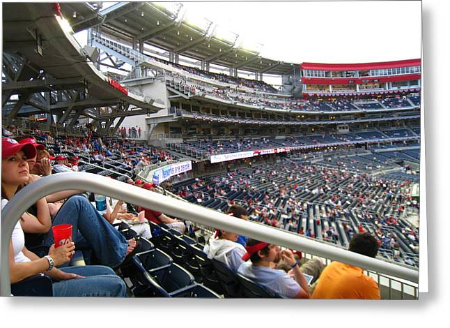 Washington Dc Baseball Greeting Cards - Nationals Park - 01133 Greeting Card by DC Photographer