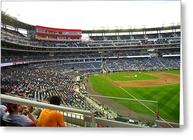Washington Dc Baseball Greeting Cards - Nationals Park - 01134 Greeting Card by DC Photographer