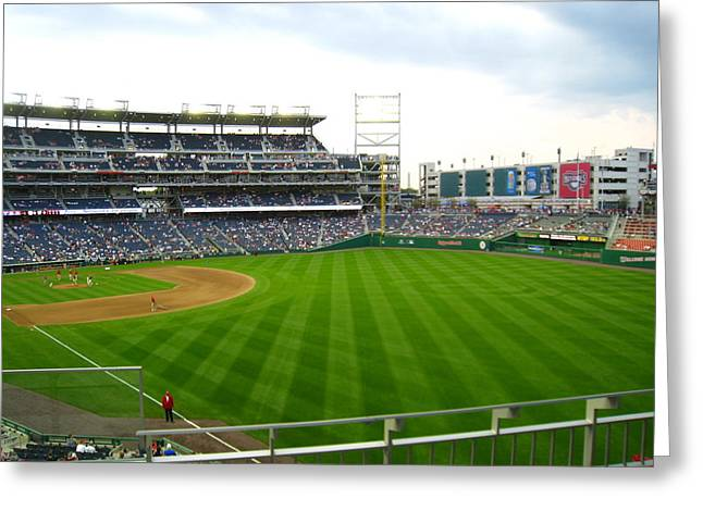 Washington Dc Baseball Greeting Cards - Nationals Park - 01135 Greeting Card by DC Photographer