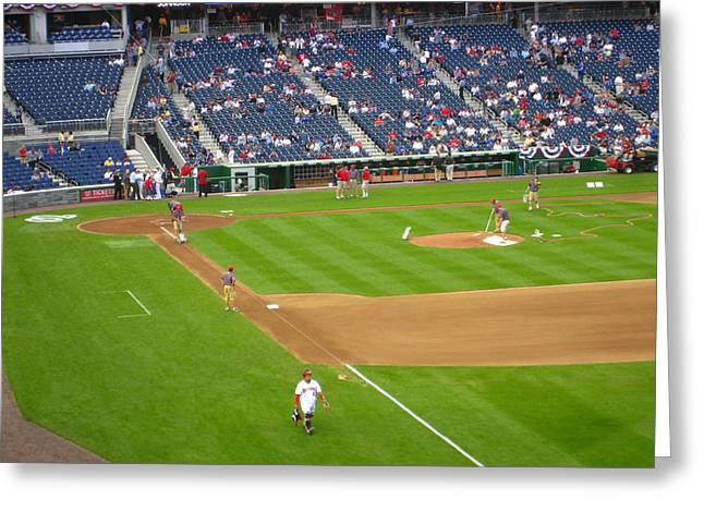Washington Dc Baseball Greeting Cards - Nationals Park - 01136 Greeting Card by DC Photographer