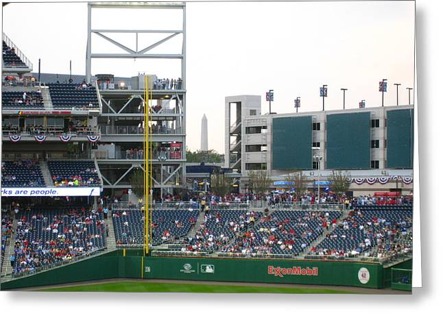 Washington Dc Baseball Greeting Cards - Nationals Park - 01137 Greeting Card by DC Photographer