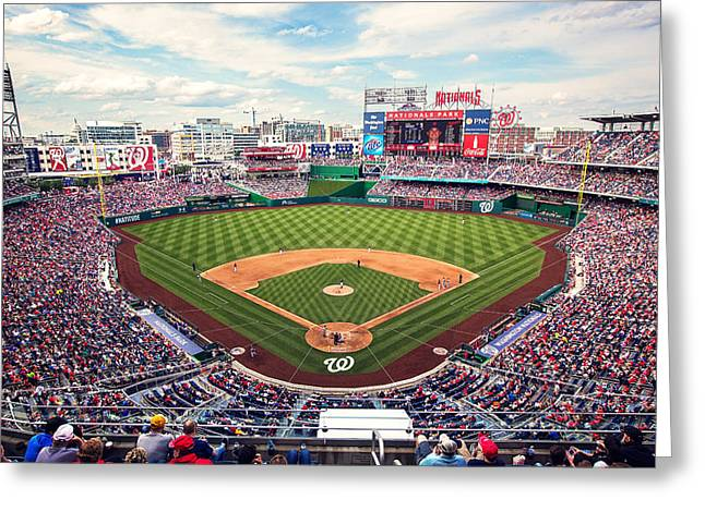 Washington Dc Baseball Greeting Cards - Nationals Park Greeting Card by Malcolm MacGregor