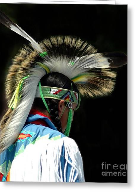 Kathleen Struckle Greeting Cards - Native American Boy Greeting Card by Kathleen Struckle