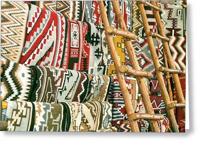 Native American Rugs Greeting Card by Julien Mcroberts