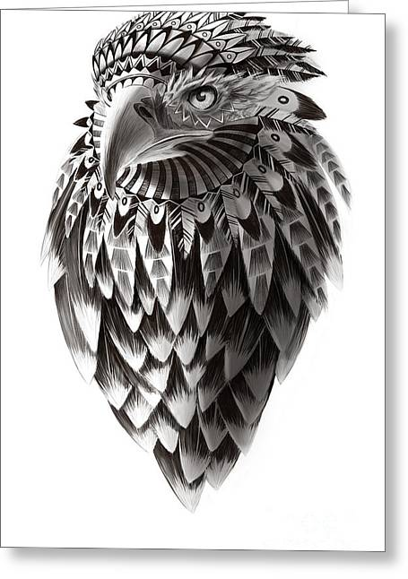 Native American Shaman Eagle Greeting Card by Sassan Filsoof