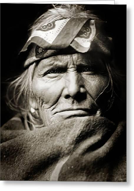 Sis Greeting Cards - Native American Zuni -  Si Wa Wata Wa  Greeting Card by The  Vault - Jennifer Rondinelli Reilly