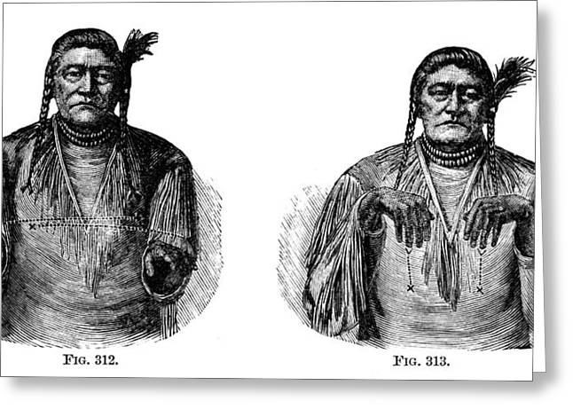 American Sign Language Greeting Cards - Native Americans: Sign Language Greeting Card by Granger