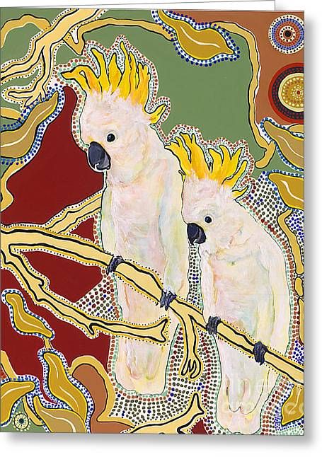 Australian Native Bird Greeting Cards - Native Aussies Greeting Card by Pat Saunders-White