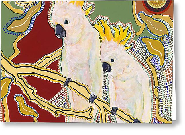 Native Aussies Greeting Card by Pat Saunders-White