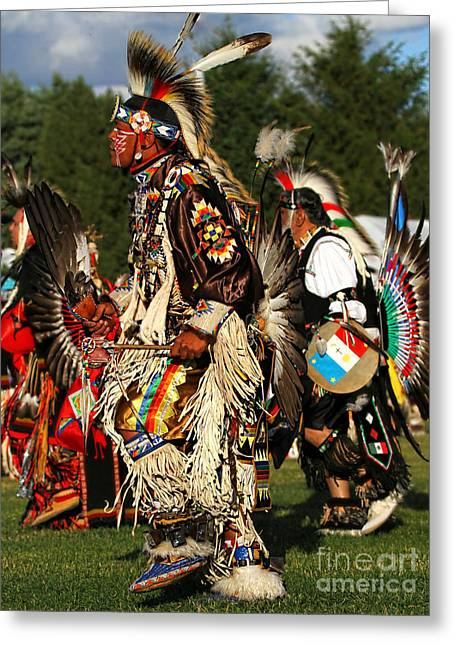 Fancy-dancer Greeting Cards - Native Dancers color Greeting Card by Scarlett Images Photography