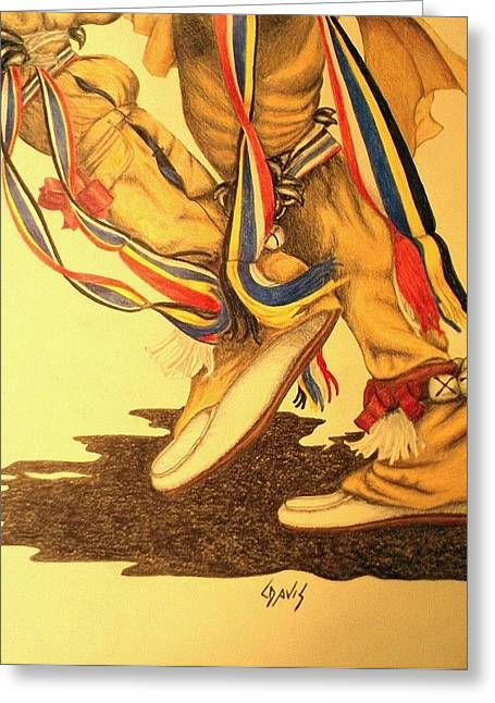 Native Dancer's Feet 1 Greeting Card by Lew Davis