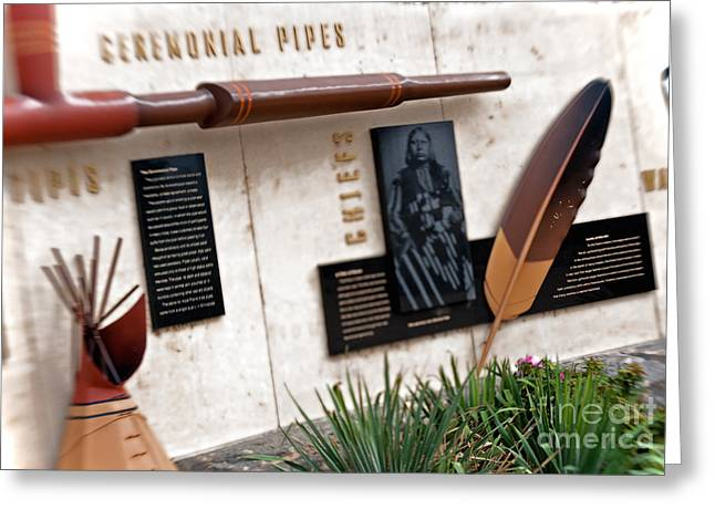 Keeper Of The Plains Greeting Cards - Native Diorama Greeting Card by Fred Lassmann