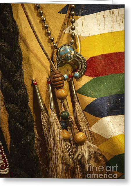 Beaded Jewelry Greeting Cards - Native Greeting Card by Margie Hurwich