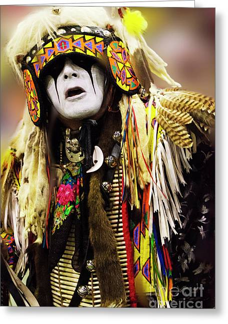 Wow Greeting Cards - Pow Wow Native Pride Greeting Card by Bob Christopher