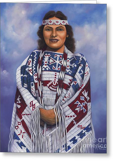 Fringe Greeting Cards - Native Queen Greeting Card by Ricardo Chavez-Mendez