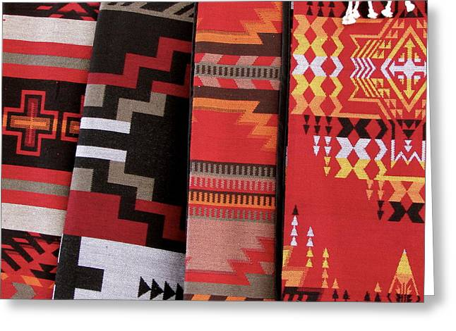 Native American Rug Greeting Cards - Native Rugs Greeting Card by Judy Sanchez