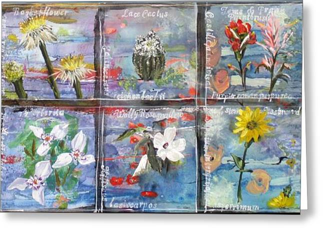 Wild Flowers Of Texas Greeting Cards - native Texas wildflowers A Greeting Card by Michael Dillon