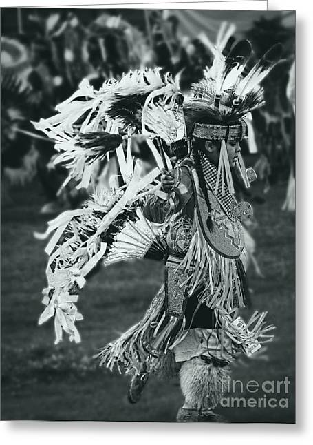 Fancy-dancer Greeting Cards - Native youth dancer Greeting Card by Scarlett Images Photography
