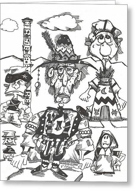 Natives Greeting Card by Philip Blanche