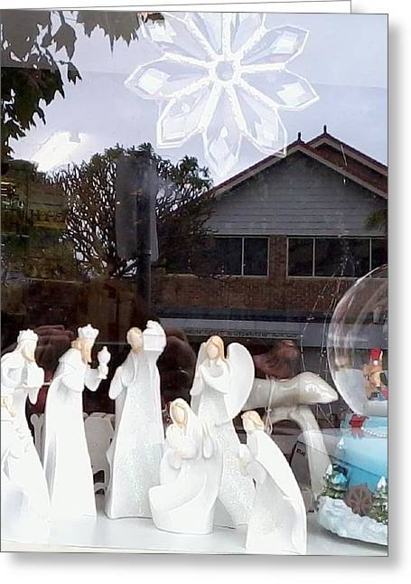 Christmas Card Reliefs Greeting Cards - Nativity Greeting Card by Adrianne Wood