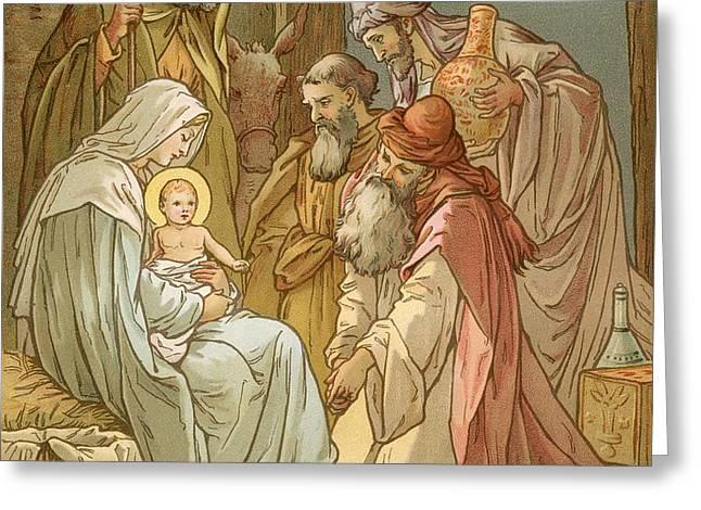 Nativity Greeting Card by John Lawson