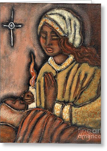 Nativity Greeting Card by Maya Telford