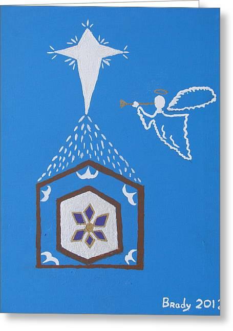 Star Of Bethlehem Greeting Cards - Nativity Scene Greeting Card by Brady Harness