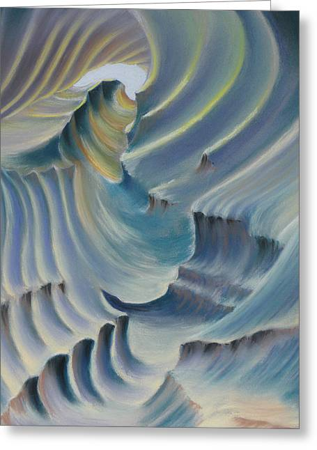 Caves Pastels Greeting Cards - Natural abstract 6 Greeting Card by Charles Hubbard