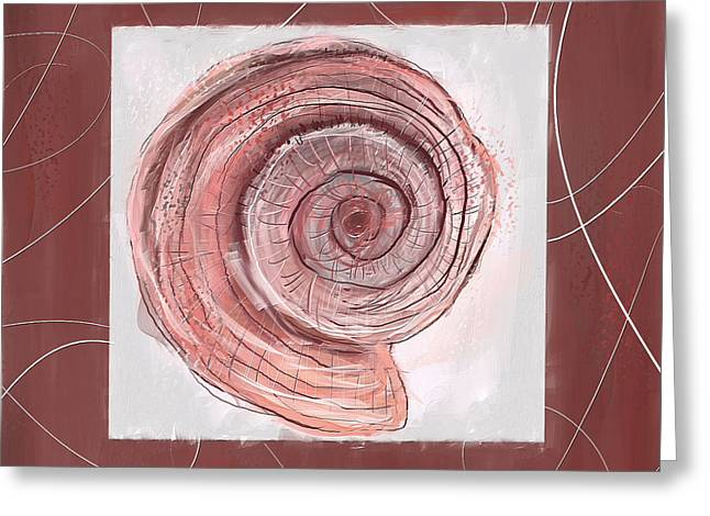 Natural Allure- Marsala Pantone 18-1438 Greeting Card by Lourry Legarde