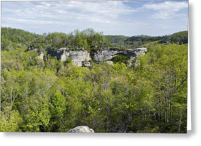 Sandstone Bluffs Greeting Cards - Natural Arch - D005231 Greeting Card by Daniel Dempster