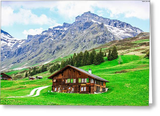 Murren Greeting Cards - Natural Beauty - Switzerland Greeting Card by Mehul Dave
