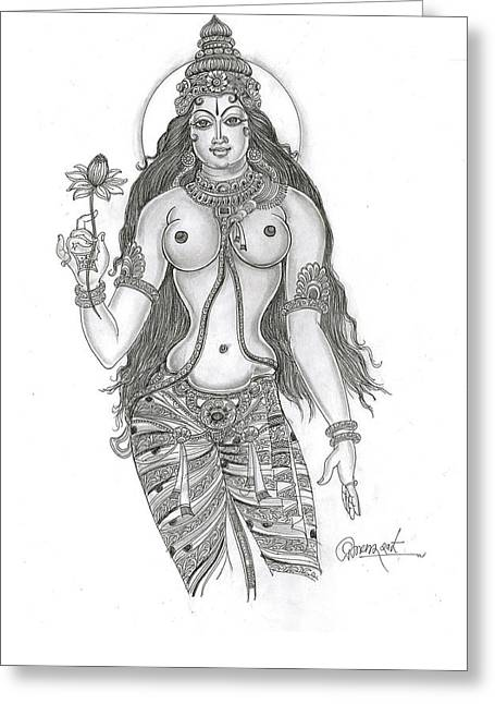 The Goddess Greeting Card by Art Tantra
