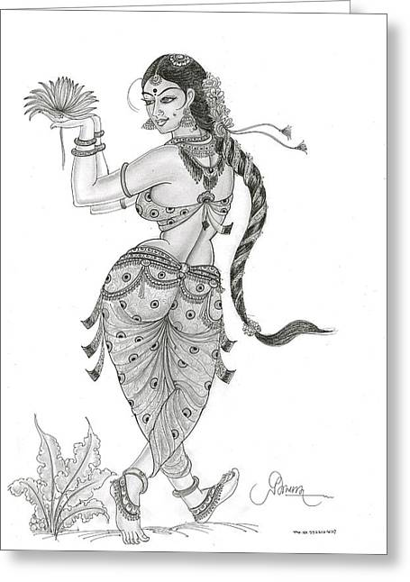 Dancing In Nature Greeting Card by Art Tantra
