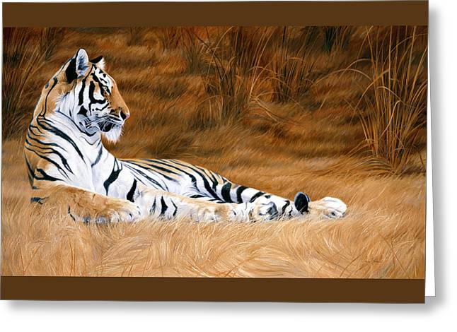Tigers Greeting Cards - Natural Beauty Greeting Card by Lucie Bilodeau