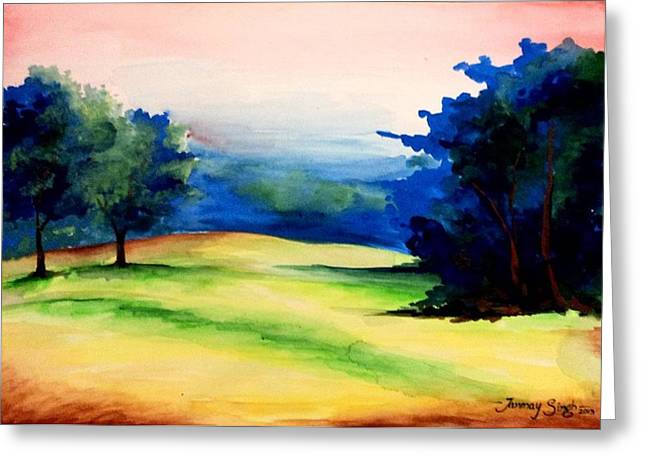 Landscapes Reliefs Greeting Cards - Natural Beauty Greeting Card by Tanmay Singh