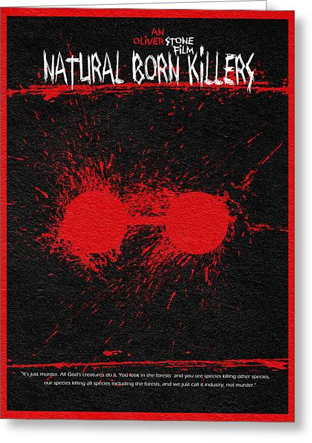 Oliver Greeting Cards - Natural Born Killers Greeting Card by Ayse Deniz