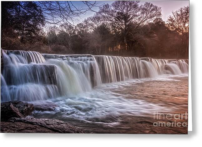 Natural Dam Arkansas Greeting Cards - Natural Dam Sunrise Greeting Card by Larry McMahon