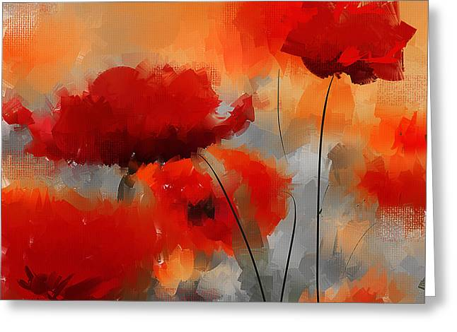 Floral Art Paintings Greeting Cards - Natural Enigma Greeting Card by Lourry Legarde