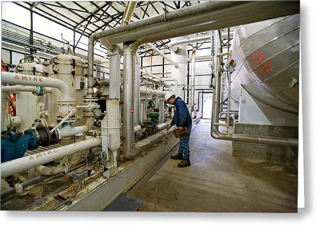 Natural Gas Processing Plant Greeting Card by Jim West