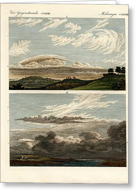 Cumulus Nimbus Greeting Cards - Natural history of the clouds Greeting Card by Splendid Art Prints
