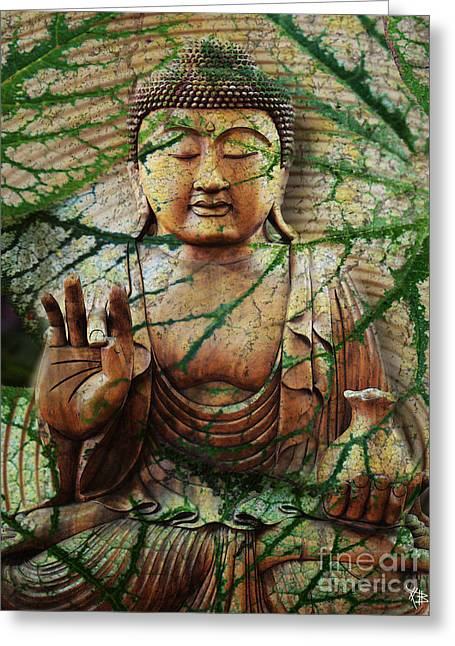 Digital Collage Greeting Cards - Natural Nirvana Greeting Card by Christopher Beikmann
