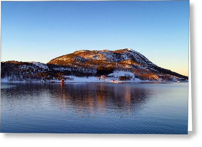 Norway Harbor Greeting Cards - Natural Norway Greeting Card by Mountain Dreams