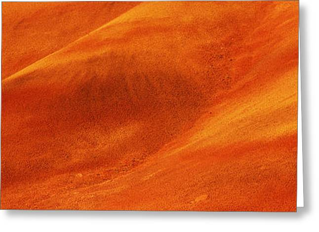 Fossil Images Greeting Cards - Natural Pattern On A Hill, Painted Greeting Card by Panoramic Images