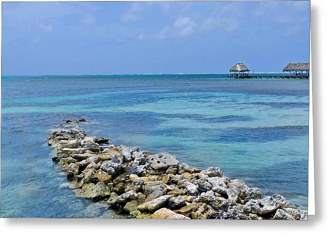 Wood Pier Framed Prints Greeting Cards - Natural Rock Pier Greeting Card by Kristina Deane