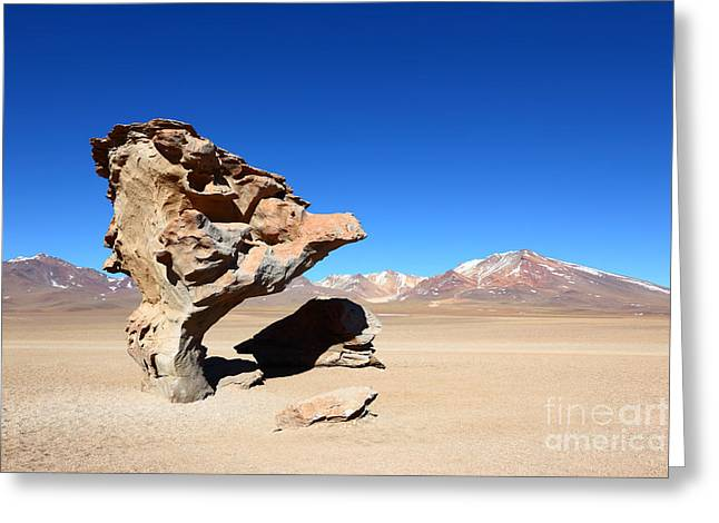 Lifeless Greeting Cards - Natural Rock Sculpture Greeting Card by James Brunker