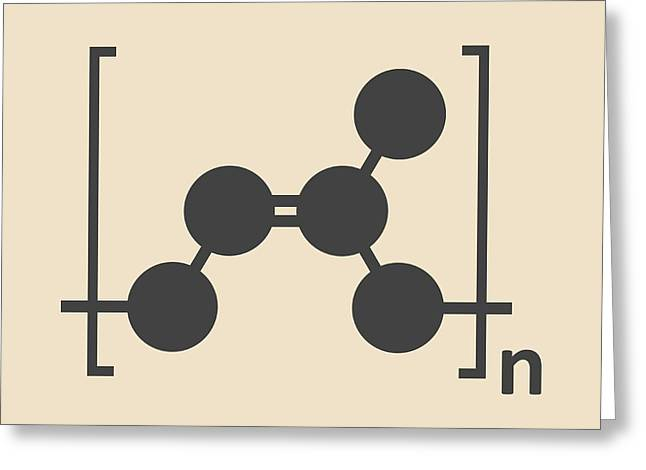 Natural Rubber Polymer Molecule Greeting Card by Molekuul