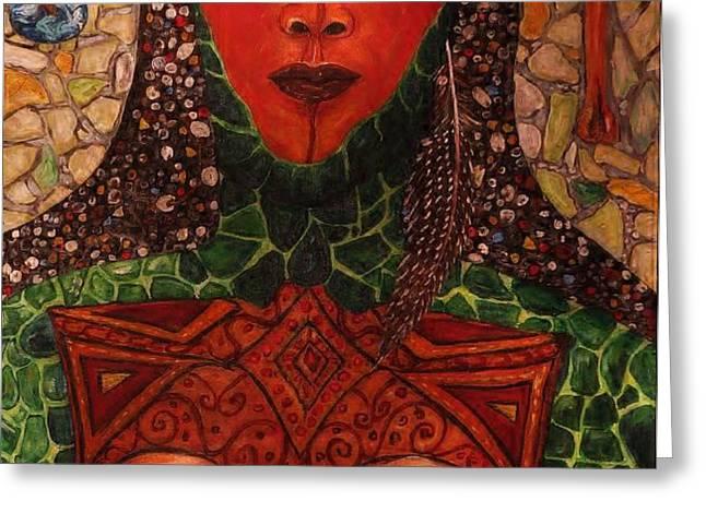 Natural Warrior Goddess Greeting Card by Cynthia  Hagenhoff