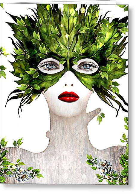 30-55 Years Old Greeting Cards - Natural Women Greeting Card by Yosi Cupano