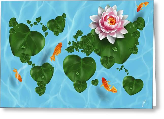 Natural World Greeting Card by Veronica Minozzi