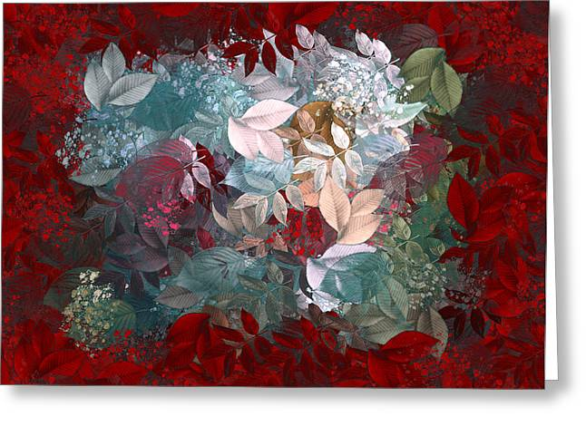 Red Leaves Digital Greeting Cards - Naturaleaves - s20-03c Greeting Card by Variance Collections